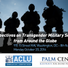 Perspectives on Transgender Military Service from Around the Globe - American Civil Liberties Union